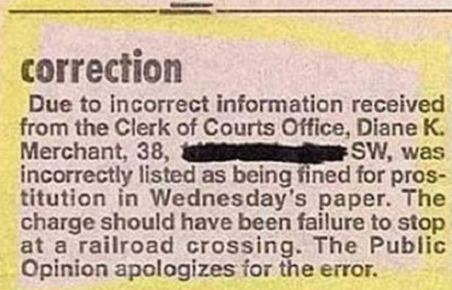 Mistakes in Print