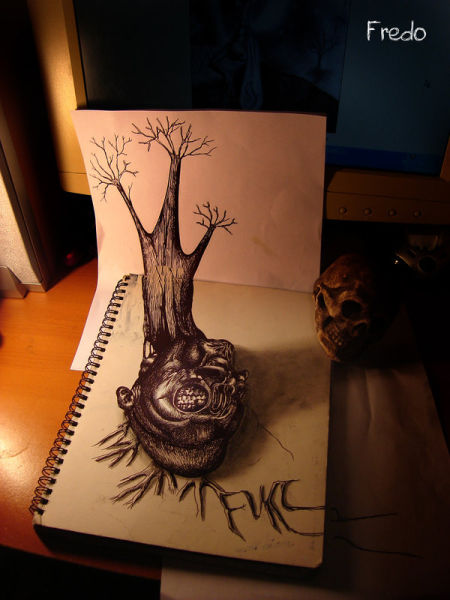 Mind-Blowing 3D Pencil Drawings